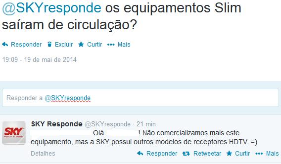 SKY não comercializa mais o SKY HDTV Slim 10303410