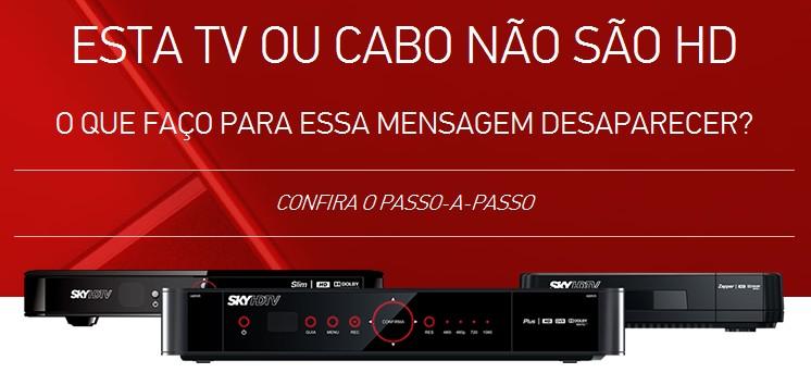 """Como solucionar: """"Esta TV ou cabo não são HD"""" Screen25"""