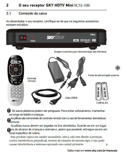Confira as imagens do novo modelo decodificador da SKY HDTV MINI SC51-100 Screen34