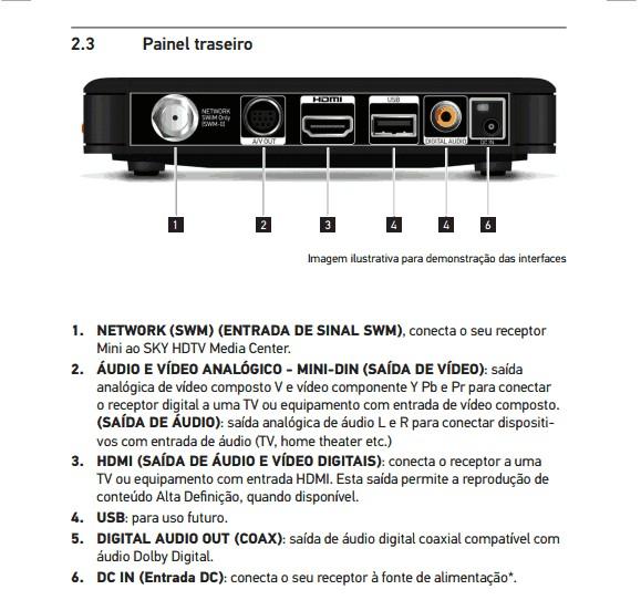 Confira as imagens do novo modelo decodificador da SKY HDTV MINI SC51-100 Screen36