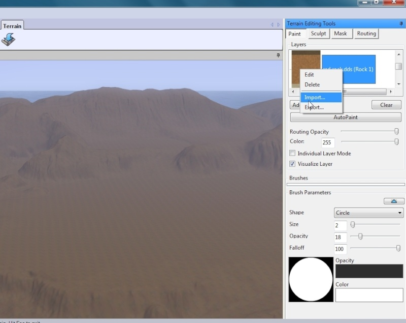 Exporting and Importing Terrain Layers  by Honeybear  @ BMC 510