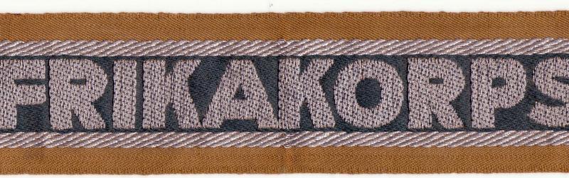 Bandes de bras sous-officier Feldgendarmerie / Afrikakorps. Authentification. Ak1_0011