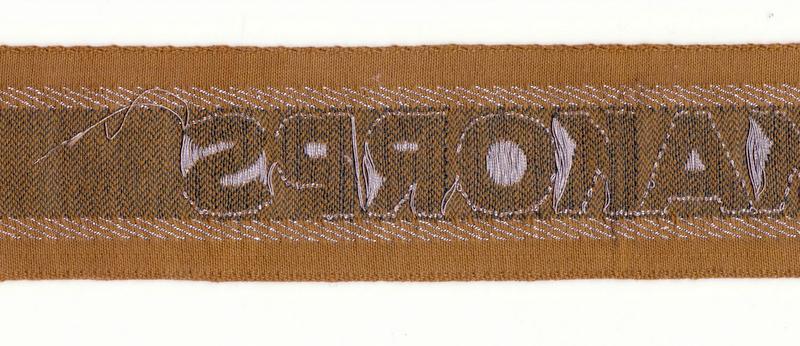 Bandes de bras sous-officier Feldgendarmerie / Afrikakorps. Authentification. Ak2_0011