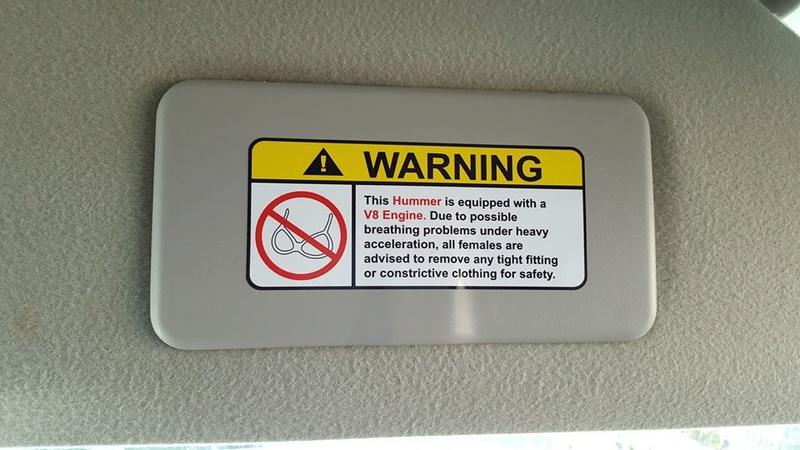 Recommandations pour les utilisateur du Hummer à strictement respecter  16999010