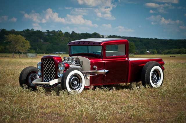 Larry Woods - '31 Ford Pick up hot rod - Boerne Stage Kustom 31-for11