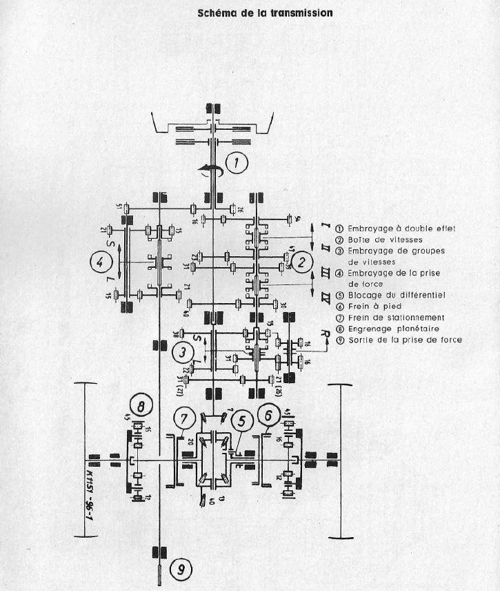 Deutz 5055 boite de vitesse Schema10