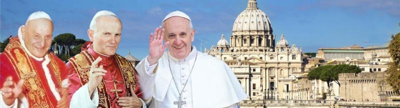 Canonisation de Jean XXIII et Jean-Paul II Dimanc12