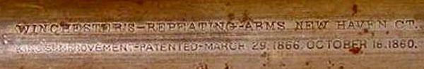 "Winchester ""Yellow Boy"" Cal. 44 WCF ...... 1866 ou 1873...? Marqua10"