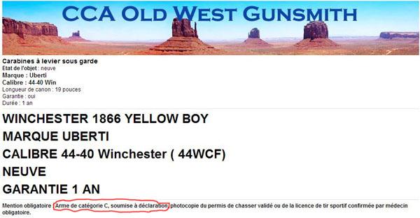 "Winchester ""Yellow Boy"" Cal. 44 WCF ...... 1866 ou 1873...? Owg10"