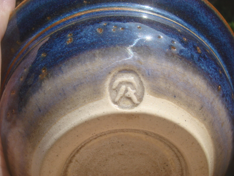 Lovely glazed bowl...marked..not sure from whence Copied20