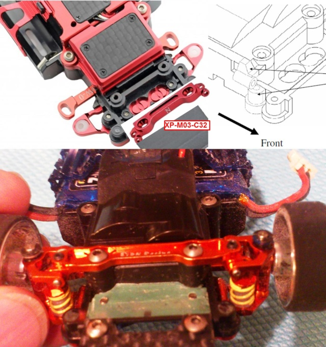 capot xpower - Capot X-POWER sur MR 03 avec train avant PN  Double A Arm!! Montag11