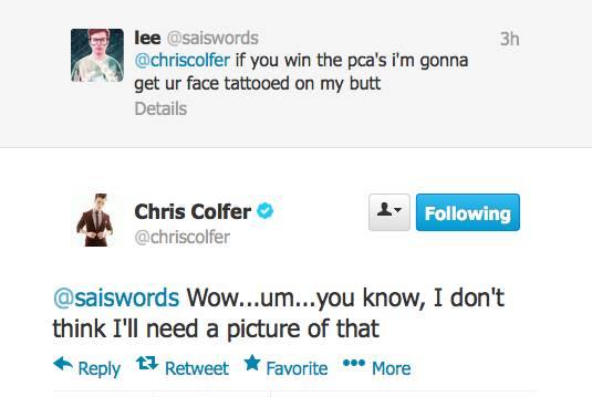 Chris Colfer Tweets - Page 21 Twitte27