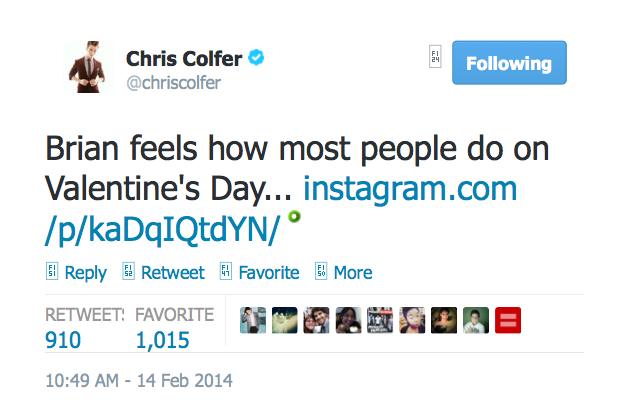Chris Colfer Instagram - Page 20 Twitte27