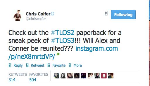 Chris Colfer Tweets - Page 38 Twitte47