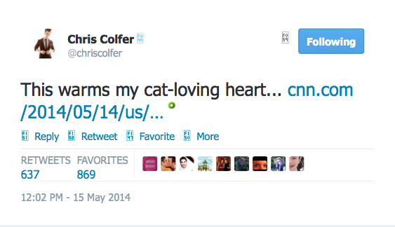 Chris Colfer Tweets - Page 40 Twitte53