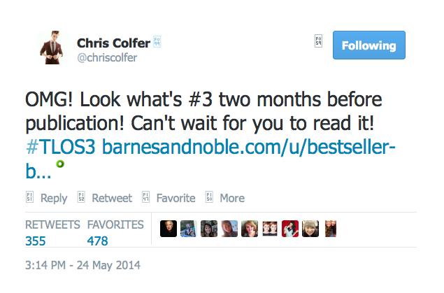 Chris Colfer Tweets - Page 2 Twitte62