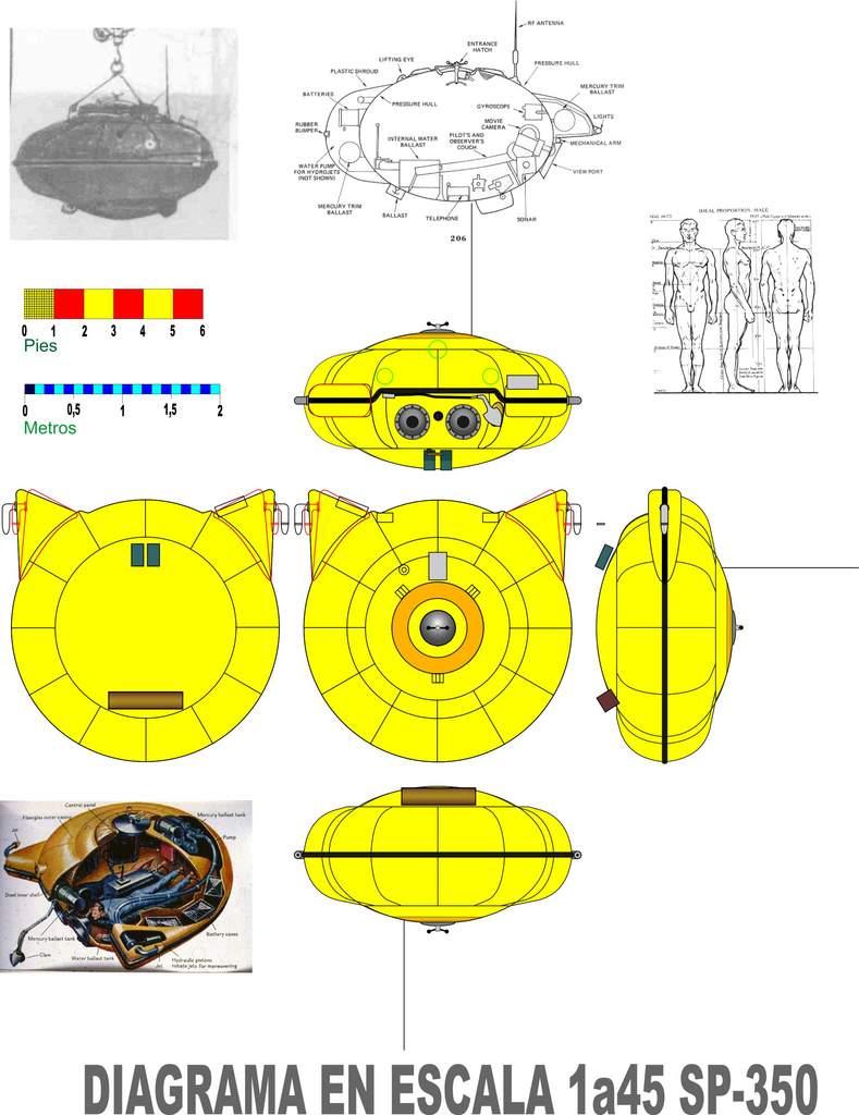 piani - la Calypso di cousteau autocostruita su piani museo della marina parigi - Pagina 16 Escala10
