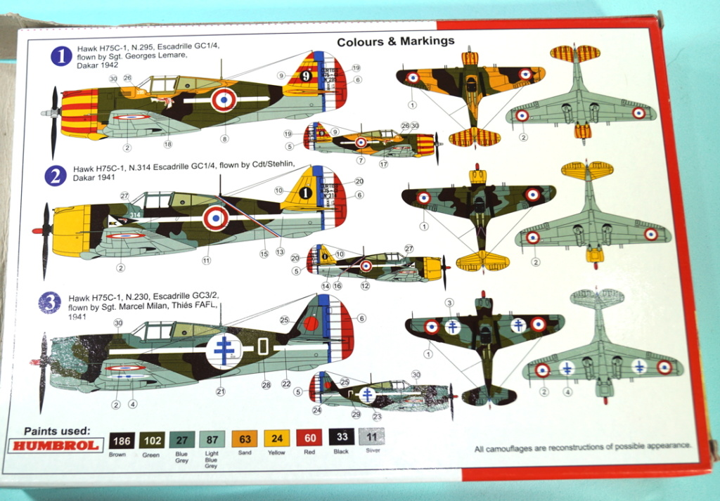 curtiss - AZ 1/72 ...  H-75c1 de chez CURTISS - avion FAFL de MILAN... Curtis11