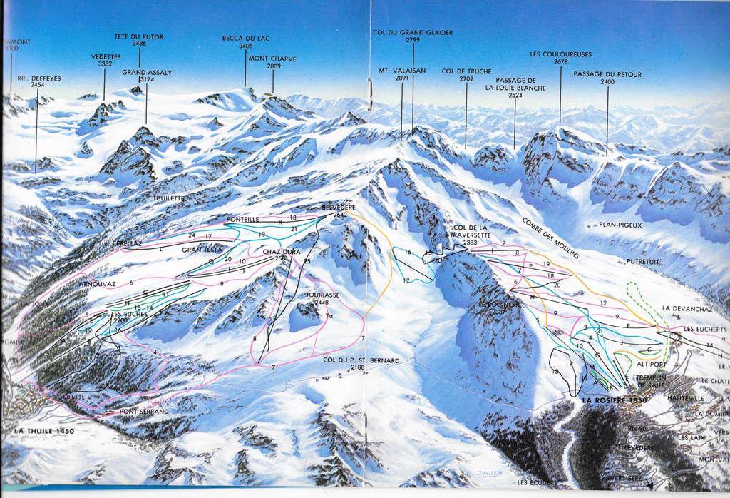 Historique du domaine skiable de La Rosière Larosi10