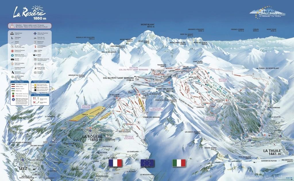 Historique du domaine skiable de La Rosière Plan_p10