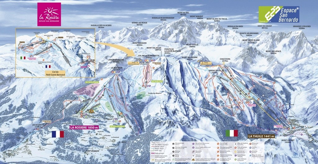 Historique du domaine skiable de La Rosière San_be10