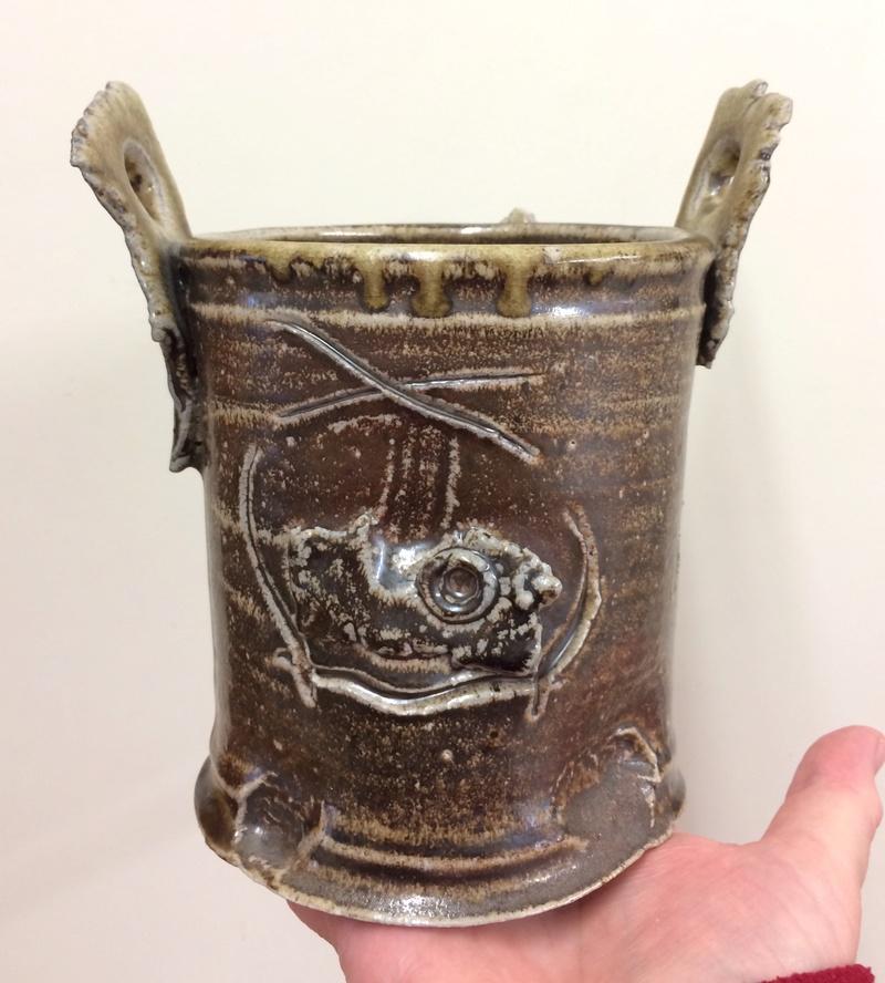 Woodfired Japanese vase - Shigaraki or Iga ware Img_0113