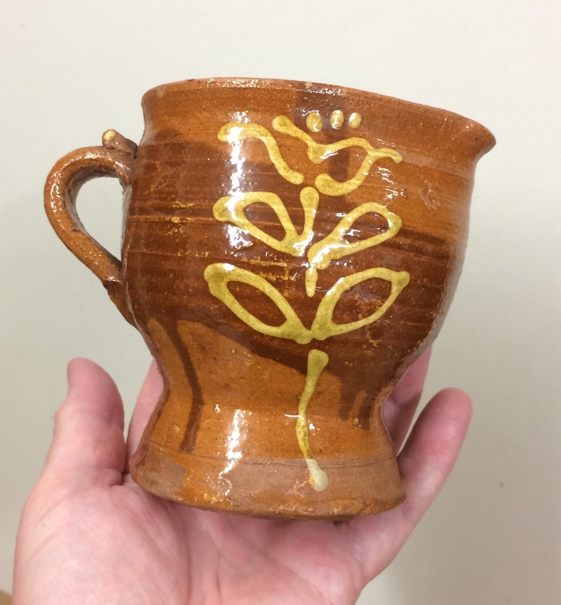 Small slipware jug, French?  Img_4122