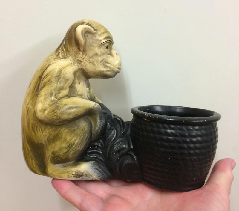Monkey and basket - Cyples Old Pottery, Embosa ware  Img_6711