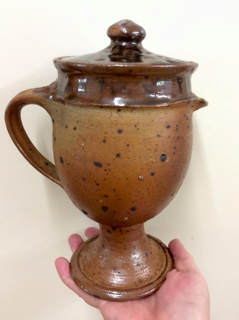 Pedestal jug, France - Possibly Pierre Digan Img_8515