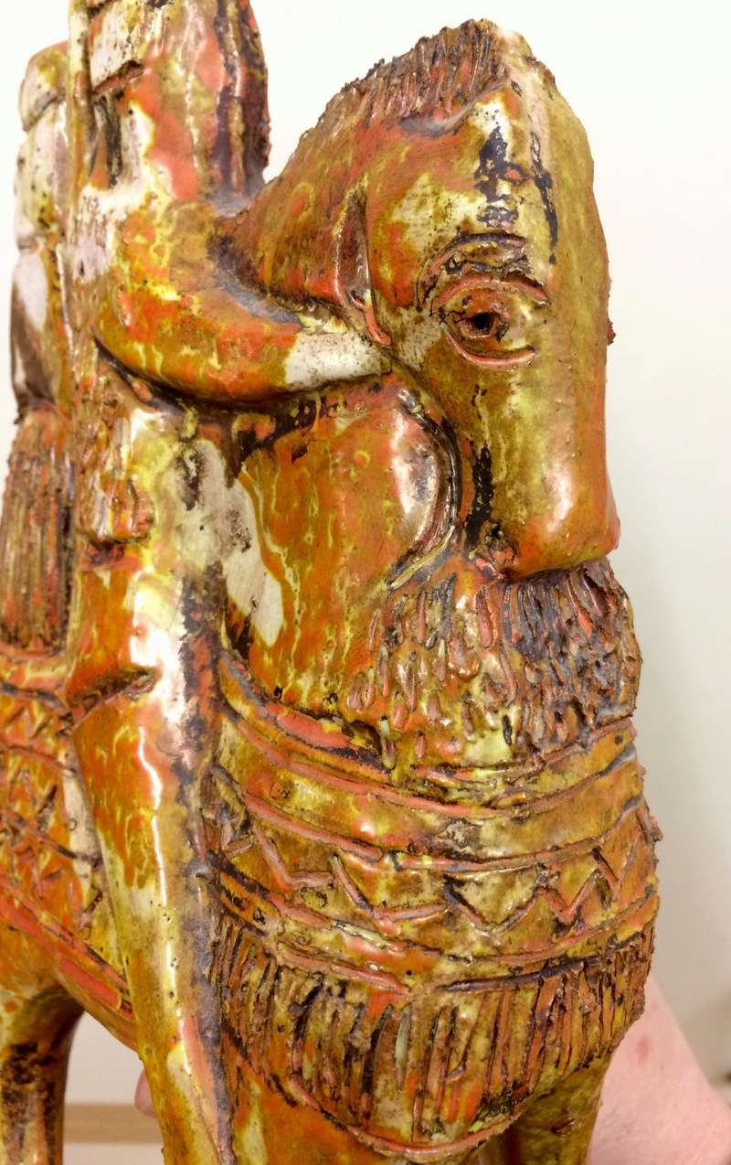 Claudio Pulli - Sardinian cavalcade horse and riders figurine  Img_9721