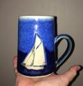 Treave Pottery, Penzance, Cornwall - sailboat motif Img_9110