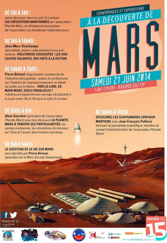 21 juin 2014 - Conférences A la découverte de Mars - Mairie du 15ème 10259810