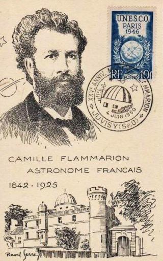 Philatélie spatiale France - 1956 - Camille Flammarion 1950_010