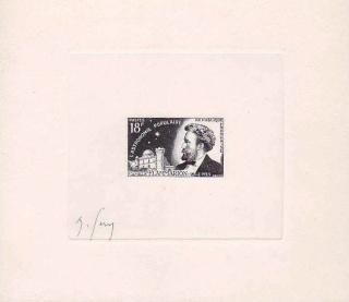 Philatélie spatiale France - 1956 - Camille Flammarion 1955_f10