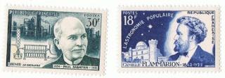 Philatélie spatiale France - 1956 - Camille Flammarion 1956_011