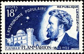 Philatélie spatiale France - 1956 - Camille Flammarion 1956_013