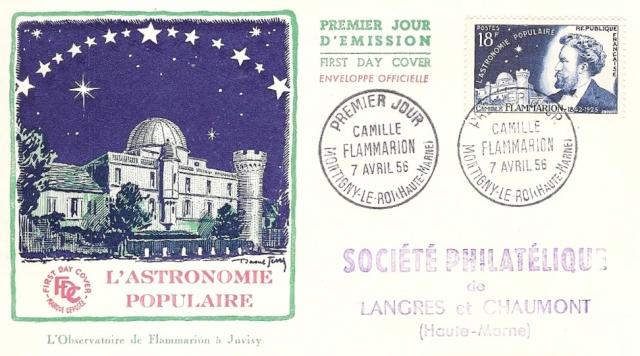Philatélie spatiale France - 1956 - Camille Flammarion 1956_014