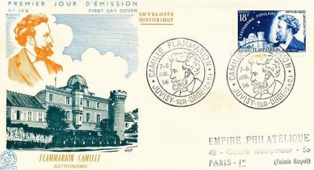 Philatélie spatiale France - 1956 - Camille Flammarion 1956_015