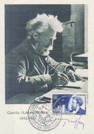 Philatélie spatiale France - 1956 - Camille Flammarion 1956_016