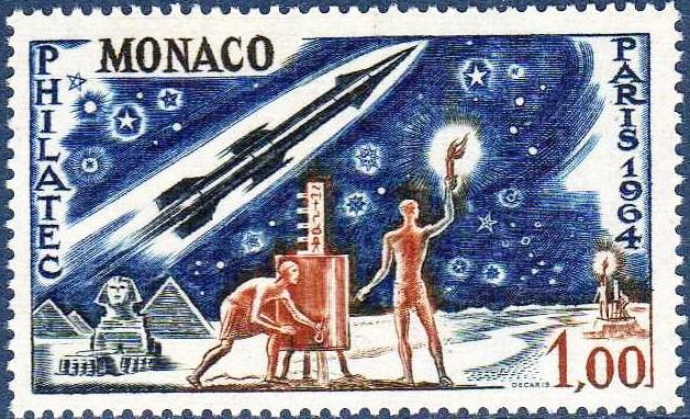 Les timbres spatiaux d'Albert Decaris  1964_010
