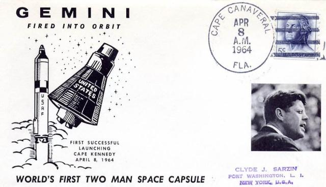 50ème anniversaire du 1er lancement d'une capsule Gemini / Rétro Philatélique 1964_012