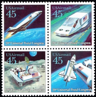 Philatelie Spatiale USA - 1989 - Future Mail Transportation 1989_111