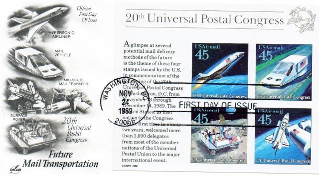 Philatelie Spatiale USA - 1989 - Future Mail Transportation 1989_112