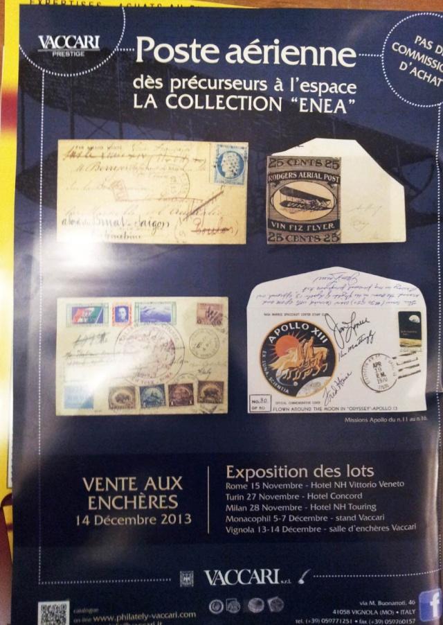 [Vente aux enchères] 14 décembre 2013 - Collection ENEA / Poste Aérienne - des précurseurs à l'espace 2013-110