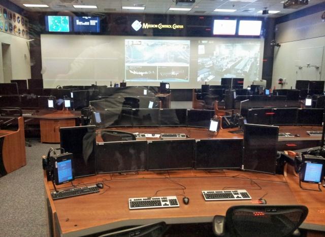 Les nouvelles salles de Contrôle des Missions au Mission Control à Houston 20131016