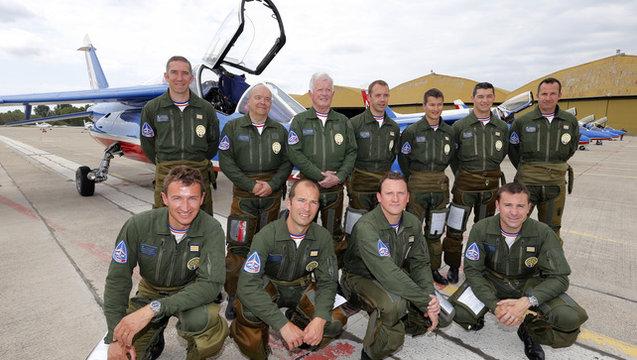 Jean-Loup Chrétien et Patrick Baudry, nouveaux parrains de la Patrouille de France 2014 20140510