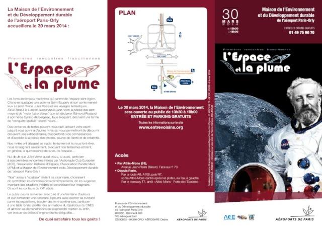Dimanche 30 mars 2014 - Orly - Premières rencontres franciliennes L'Espace et la plume 79100510