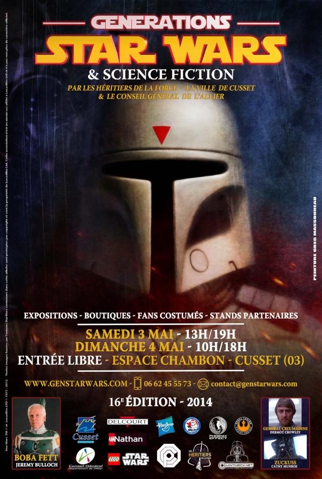 3 et 4 mai 2014 - Générations Star Wars & Science-Fiction à Cusset (03) Affich12