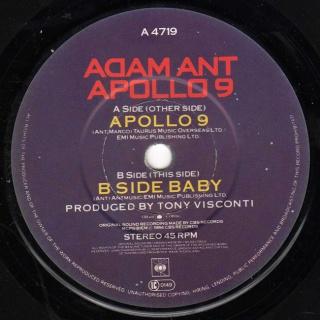 Apollo 9 et le chanteur Adam Ant B10