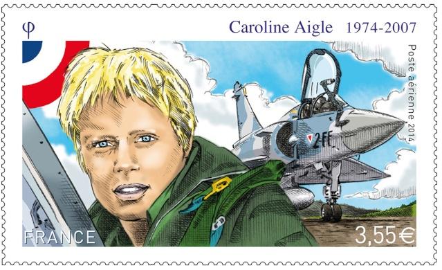 7 avril 2014 - Emission d'un timbre en hommage à Caroline Aigle C_aigl10